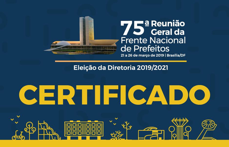 75ª Reunião Geral da FNP - Certificado